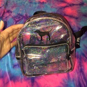 Cute mini glitter Victoria secret PINK backpack
